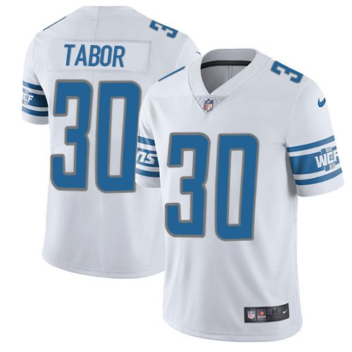Youth Nike Detroit Lions #30 Teez Tabor Limited White Vapor Untouchable NFL Jersey