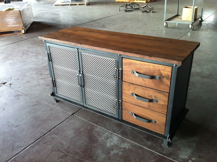 vintage and industrial furniture. ellis console by greg hankerson of vintage industrial furniture and f