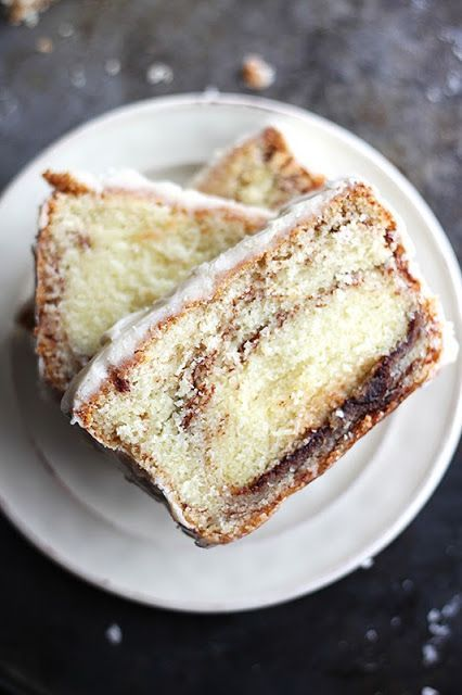 Cinnamon Roll Pound Cake!!!  Yeah, you heard me!  This and 16 more Breakfast Recipes