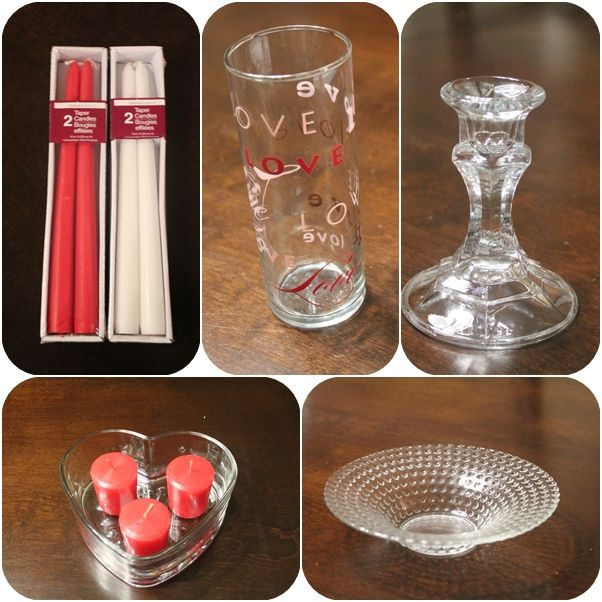 Dollar tree crafts glass candles valentines candy for Candle craft ideas