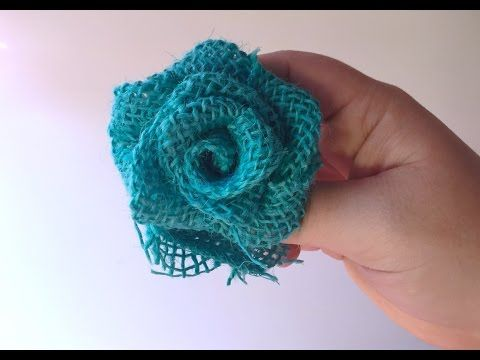Make Easy Burlap Roses - YouTube