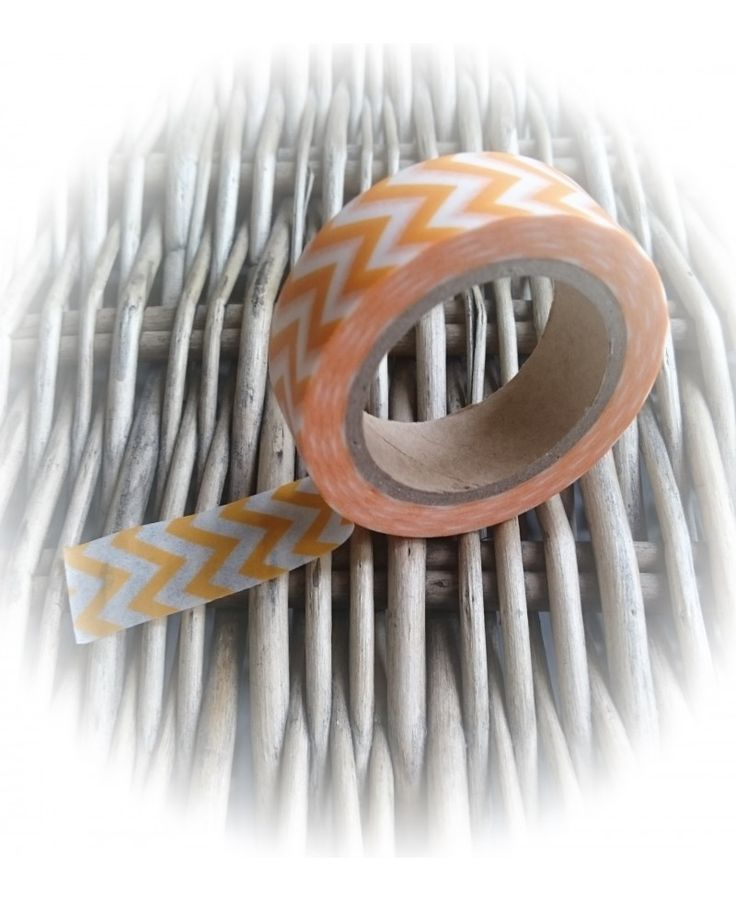 Chevron - Oranje / Wit