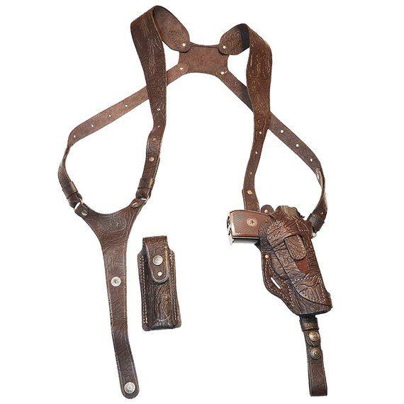 Leather Shoulder Gun Holster for Colt 1911, Colt Defender