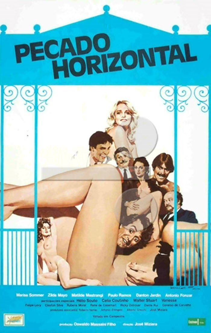 Pecado Horizontal , 1982 Brazil , by José Miziara .  Scene : four kids peeping on their mate Guina (Ricky Ostrower 13-y) making love with Aurora (Mariza Sommer 27-y)