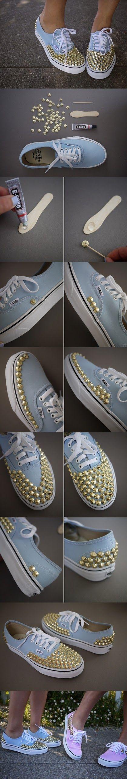 DIY spiked Sneakers