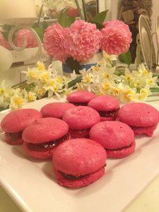... pomegranate petit fours pomegranate cream filling w juice flour and