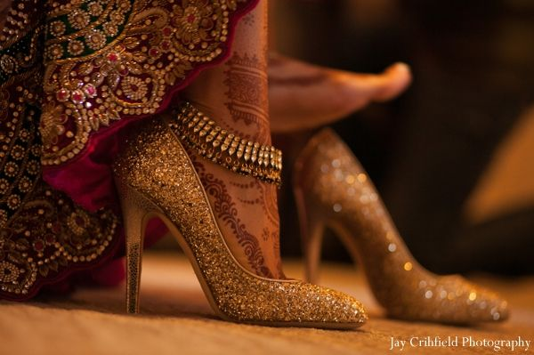 indian wedding bridal shoes inspiration http://maharaniweddings.com/gallery/photo/6900