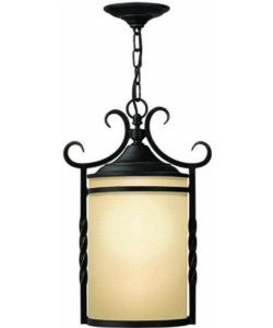 Hinkley Casa 1-Light Outdoor Pendant Olde Black 1142OL