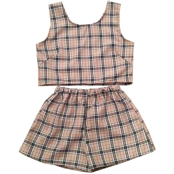 Beige Tartan Plaid Top and Shorts Two Piece Co-Ord Check Womens... ($40) ❤ liked on Polyvore featuring shorts, tops, dresses, two piece, silver, women's clothing, beige shorts, mens elastic waist shorts, checkered shorts and patterned shorts