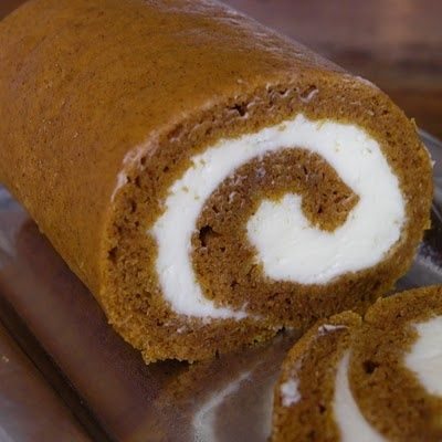 Pumpkin Roll with Cream Cheese Icing
