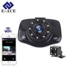 E-ACE Wi-Fi Автомобильный Видеорегистратор Камера Full HD 1080 P Мини Авто Видеорегистратор С Двумя Камерами Портативный Автомобилей Видеокамеры Светодиодные лампы Ночь видение //Цена: $37 руб. & Бесплатная доставка //  #смартфоны #gadget