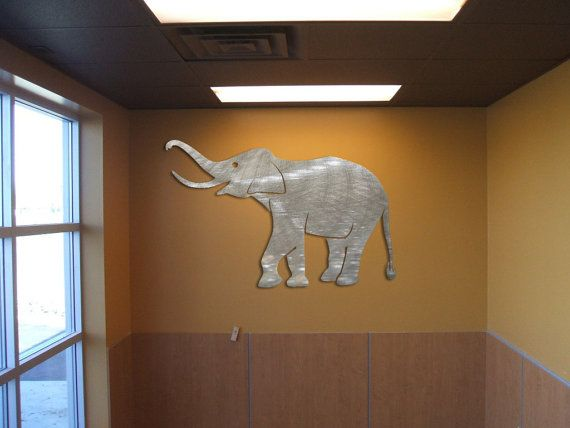 Metal Elephant Wall Decor : Elephant metal wall art
