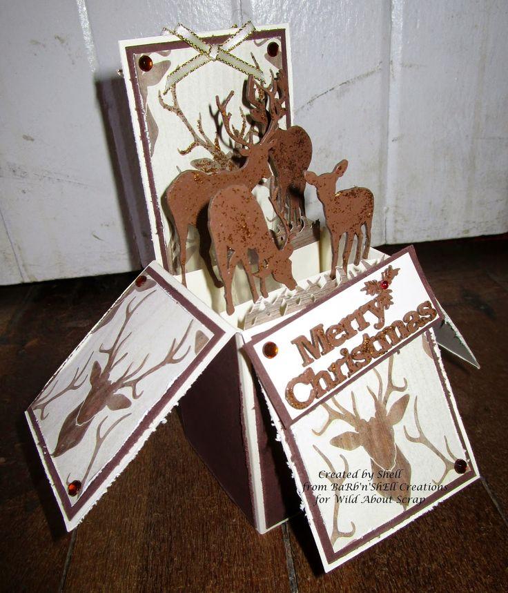 Wild About Scrap Design Team: My Mind's Eye - Sleigh Bells Ring - Reindeer - Card in a Box...