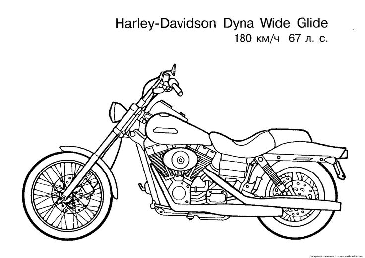 Harley-Davidson Coloring Pages To Print