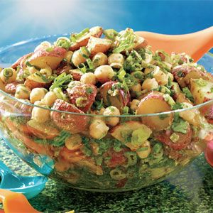 Indian-Spiced Roasted Potato and Chickpea Salad recipe - Fresh Juice