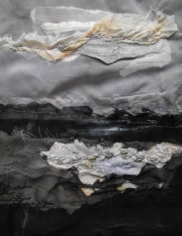 Morning Frost #textile art Laura Edgar www.lauraedgar.co.uk