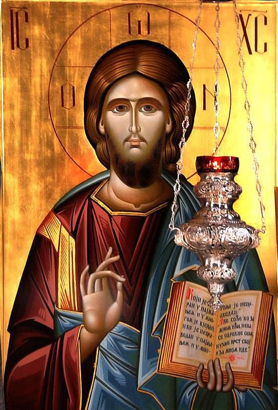 An Orthodox icon of our Lord Jesus Christ