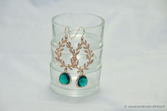 "Orecchini ""Botanic Collection "" emerald"