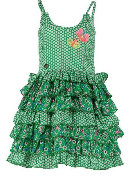 Vestido en Verde. Colección verano 2016. Mim-Pi Spain
