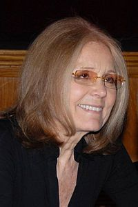 Gloria Marie Steinem (born March 25, 1934) is an American feminist, journalist, and social and political activist who became nationally recognized as a leader of, and media spokeswoman for, the women's liberation movement in the late 1960s and 1970s. A prominent writer and political figure, Steinem has founded many organizations and projects and has been the recipient of many awards and honors. She was a columnist for New York magazine and co-founded Ms. magazine.