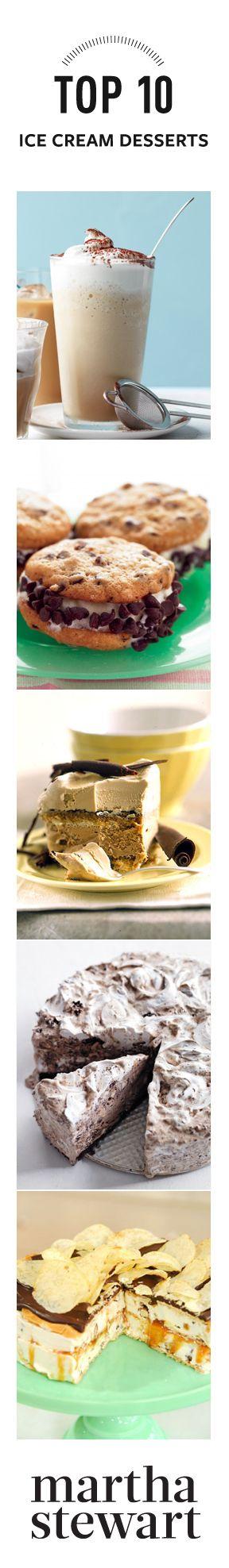 Top 10 Ice Cream Desserts from Martha Stewart