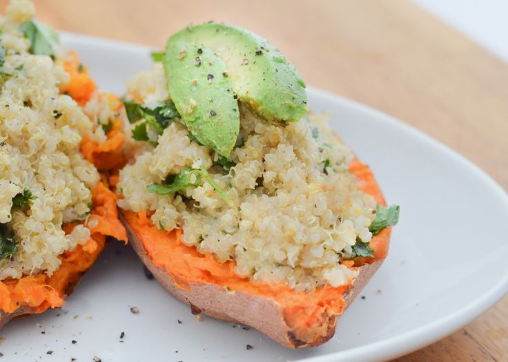 Lime + Cilantro Quinoa-Stuffed Sweet Potatoes | Cilantro, Limes and ...