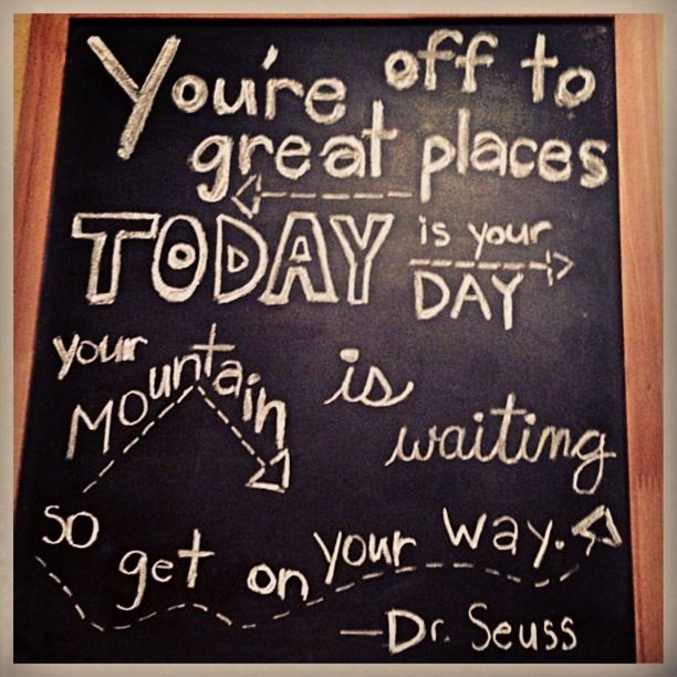 Chalkboard art with dr suess