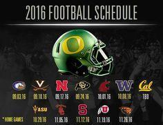 2016 Oregon Ducks football schedule. I like it. Strong schedule. Gotta be ready every week. Go Ducks!
