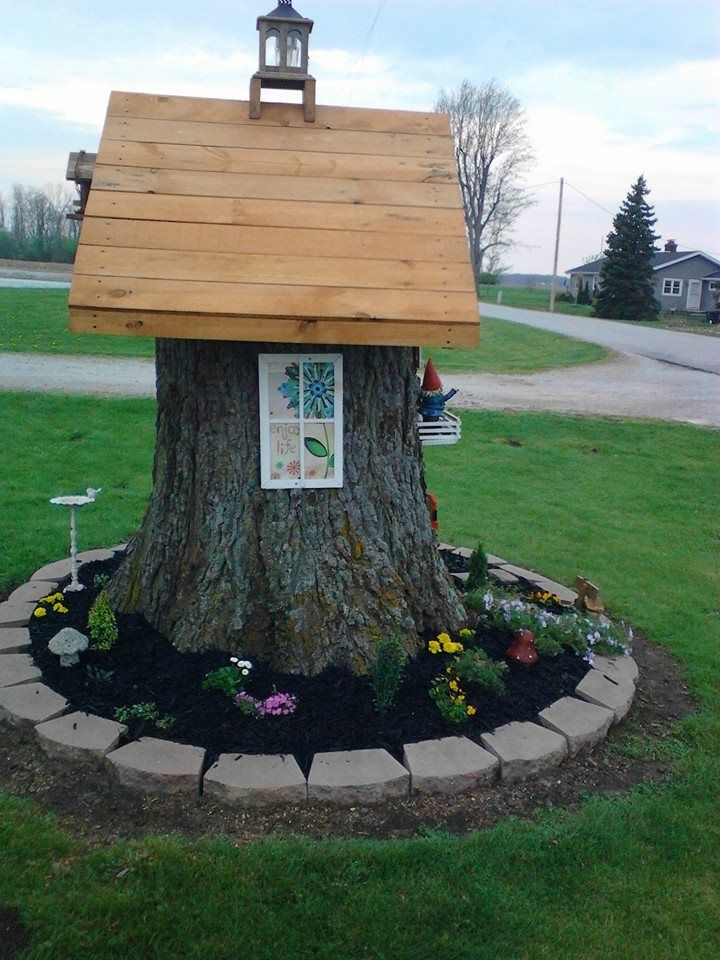 18 best Tree Stump Decorations images on Pinterest ...