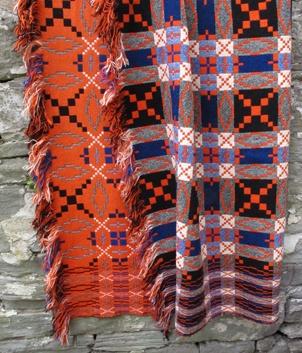 Antique Welsh tapestry blankets, Brynkir Woollen Mill, Northern Wales.