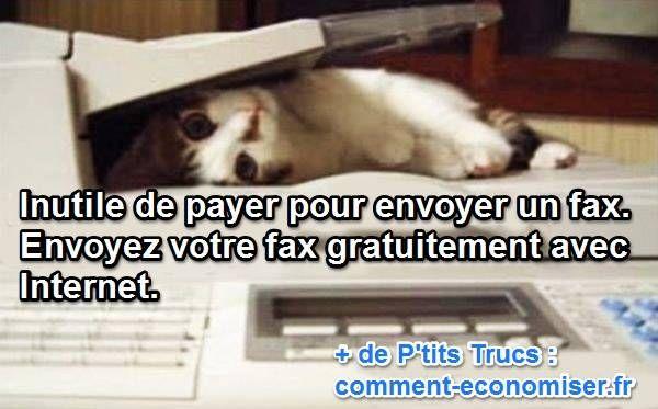 Vous avez besoin d'envoyer un fax en France gratuitement ? Une solution existe avec le service de Envoi-Fax-Gratuit qui permet l'envoi de fax gratuitement depuis Internet.  Découvrez l'astuce ici : http://www.comment-economiser.fr/envoyer-un-fax-gratuit-par-internet.html?utm_content=bufferc6c29&utm_medium=social&utm_source=pinterest.com&utm_campaign=buffer