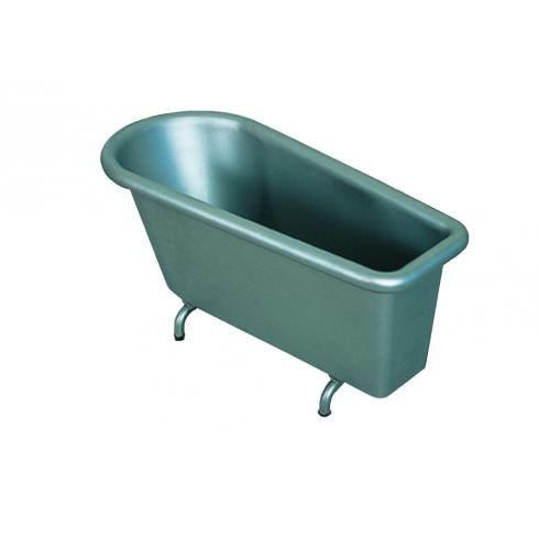 Wanna Balneo ze stali nierdzewnej przeznaczona do kąpieli solankowych, borowinowych, kwasowęglowych oraz kąpieli mineralnych, boczny zawór do opróżniania wanny, pojemność użytkowa 230l.