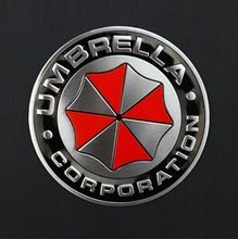 Fresca , Resident Evil guarda-chuva de alumínio etiqueta do emblema do emblema do carro tronco decalques de metal Sticker com autoadesivo(China (Mainland))