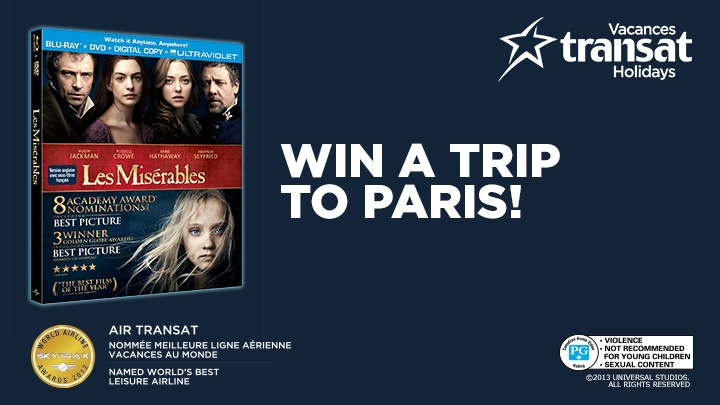 Enter the contest on Air Transat's Facebook page and you could win a roundtrip flight for two to Paris.