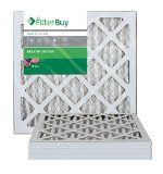 FilterBuy AFB MERV 8 14x18x1 Pleated AC Furnace Air Filter (Pack of 4 Filters) 14x18x1  Silver