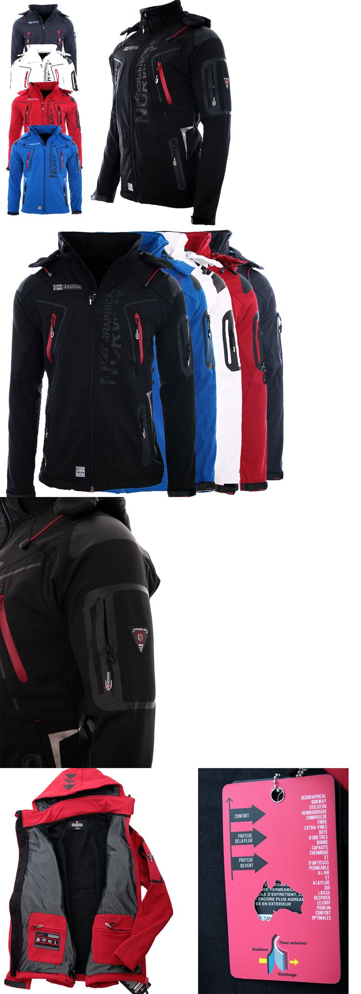 Coats and Jackets 181358: Geographical Norway Mens Softshell Jacket Rain Sports Outdoor Autumn Jacket -> BUY IT NOW ONLY: $74.3 on eBay!