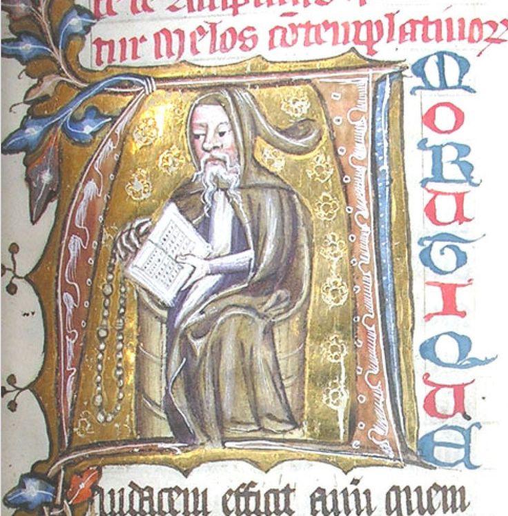 Image result for medieval manuscript ascetic monk