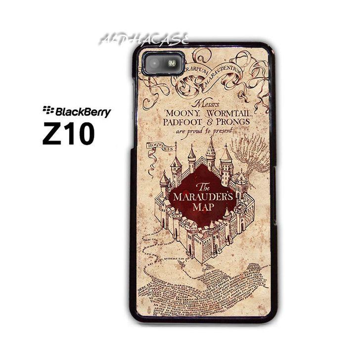 Harry Potter Marauders Map BB BlackBerry Z10 Z 10 Hard Case