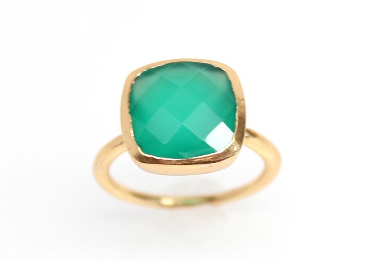 Green Onyx Gold Ring