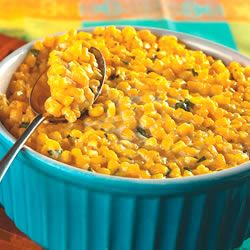 "Yum-Yum Corn..""Corn baked with an irresistible combination of butter, cream cheese, and garlic."