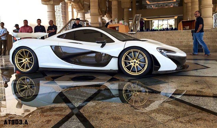 McLaren P1 With Gold Wheels