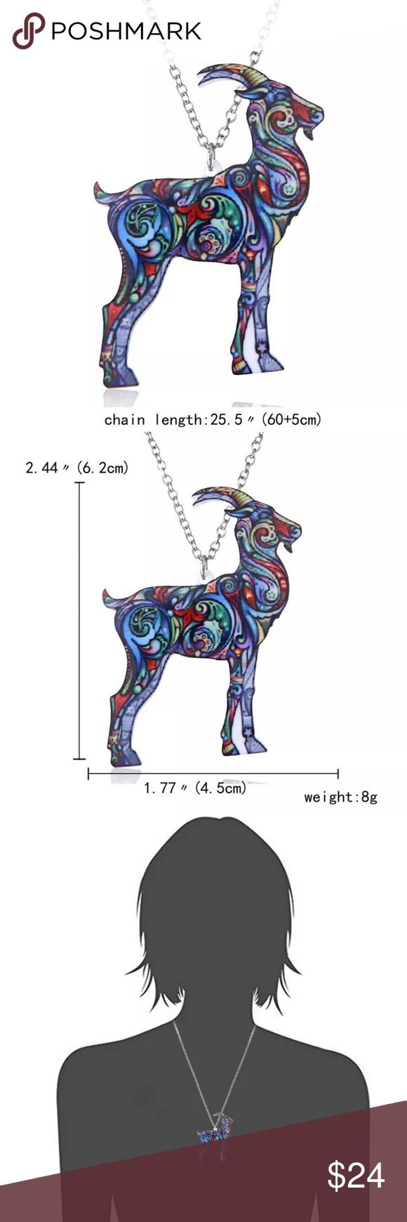"COLORFUL GOAT PENDANT LONG SWEATER NECKLACE COLORFUL GOAT PENDANT LONG SWEATER NECKLACE  100% Brand New & High Quality.  Material: Hypoallergenic Nickel Free Alloy + Acrylic   Size: Length Approx. 24"" + 1.5"" extension  Pendant Approx. 2.44"" x 1.77"" Jewelry Necklaces"