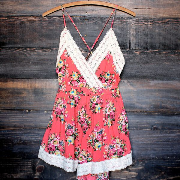 boho chic floral romper women's clothing spring summer outfits cute vintage inspired