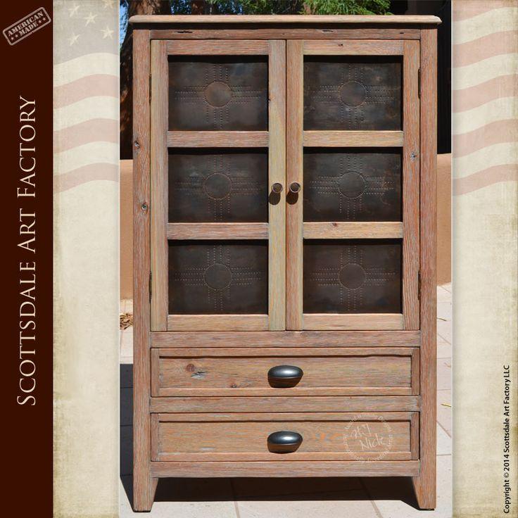 Handcrafted solid wood furniture - designer cabinets - punched tin panel  cabinet designs - custom furniture manufacturer all American master  craftsmen ...