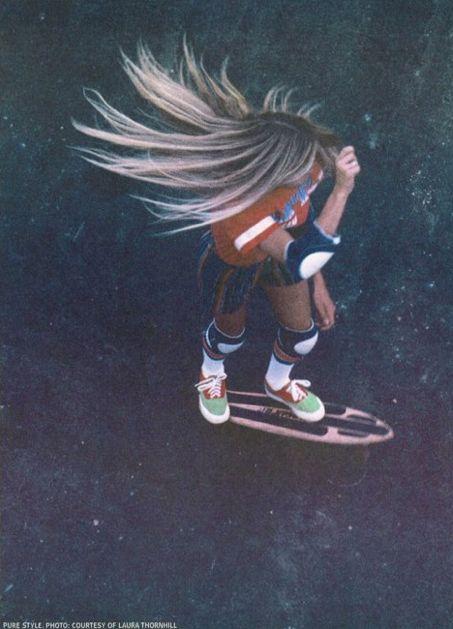 I love the ombre hair!! So right now... 70's skater girl
