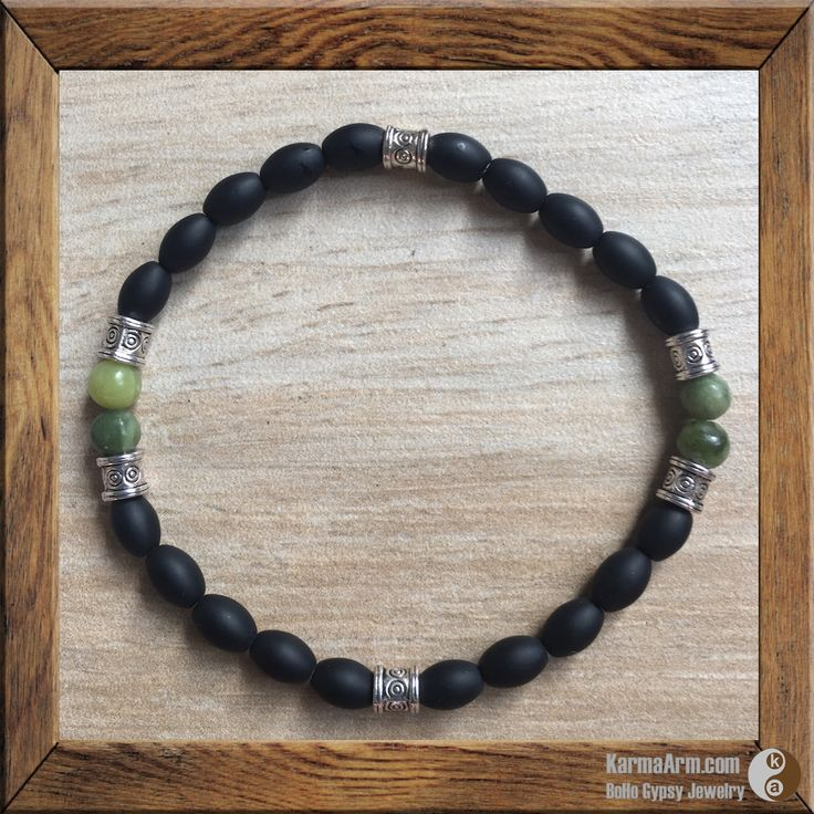 CONNECT TO THE EARTH: Onyx + Jasper Yoga Mala Bracelet