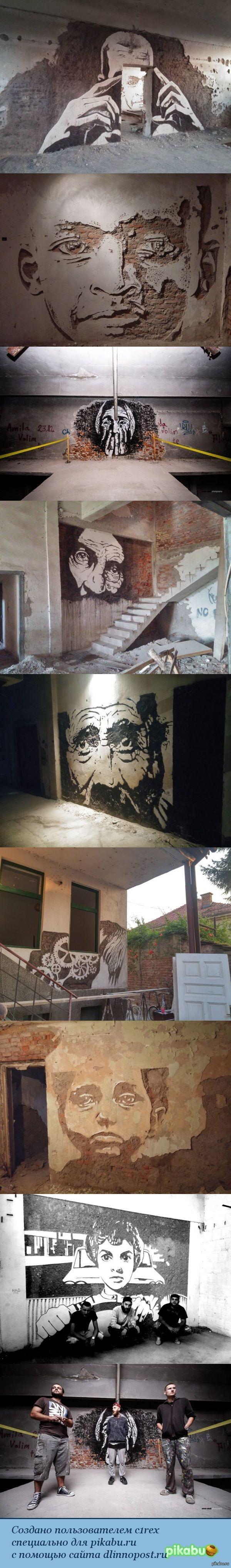 Уличные художники превратили заброшенный завод, в картинную галерею.