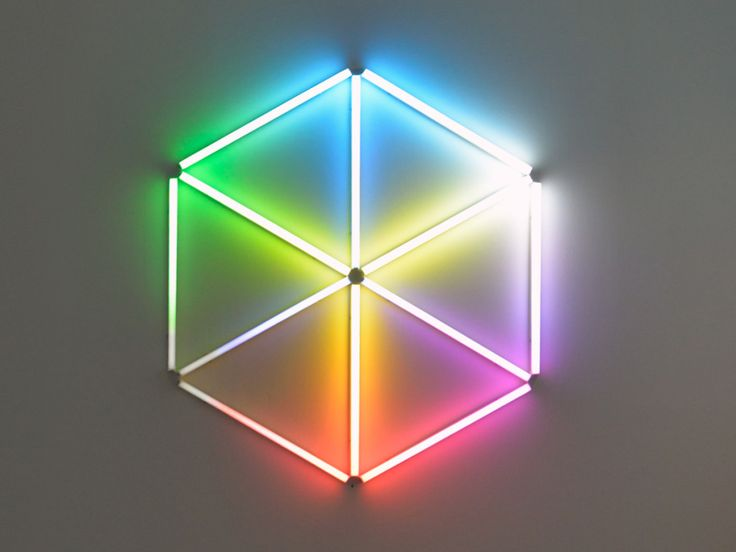 Light Sculptures That Challenge Your Sense of Reality   James Clar's most recent exhibition explores how we perceive reality. This piece, <em>Space Is a Hologram</em> blurs the line between 2-D and 3-D.   Credit: James Clar   From Wired.com