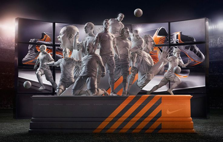 #cgi #advertising #design #CGImodelling #texturing #character #retouching #football #stadium