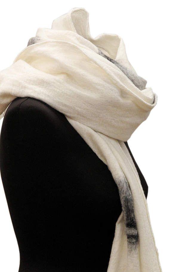 Spring SALE Minimalist white scarf Spring scarf Unique